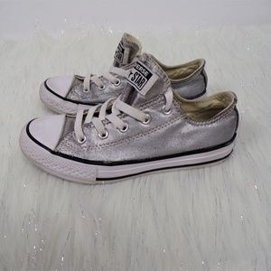 Silver Converse All Star Low Top Sneakers